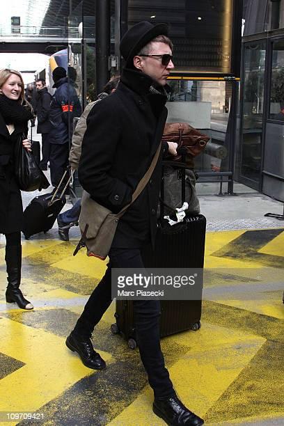 Jefferson Hack arrives at Gare du Nord on March 2 2011 in Paris France