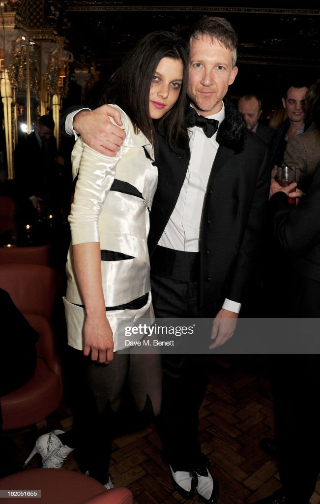 Jefferson Hack (R) attends the AnOther Magazine and Dazed & Confused party with Belvedere Vodka at the Cafe Royal hotel on February 18, 2013 in London, England.