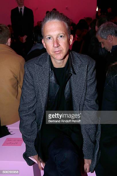 Jefferson Hack attends the Givenchy Menswear Fall/Winter 20162017 show as part of Paris Fashion Week on January 22 2016 in Paris France