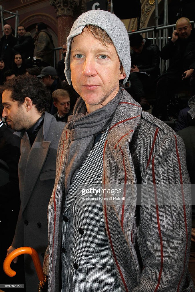 Jefferson Hack attends the Lanvin Men Autumn / Winter 2013 show at Ecole Nationale Superieure Des Beaux-Arts as part of Paris Fashion Week on January 20, 2013 in Paris, France.