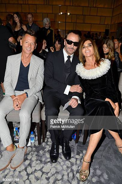 Jefferson Hack Tom Ford and Carine Roitfeld attendthe The Daily Front Row's 4th Annual Fashion Media Awards at Park Hyatt New York on September 8...