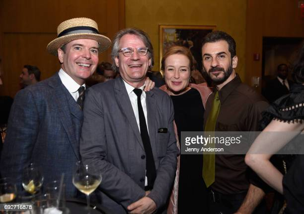 Jefferson Mays Bartlett Sher Jennifer Ehle and Michael Aronov attend the Tony Honors Cocktail Party Presenting The 2017 Tony Honors For Excellence In...