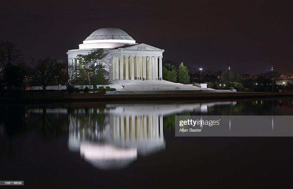 Jefferson Memorial at night : Stock Photo
