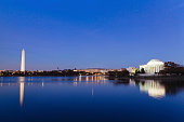 Panoramic view of Jefferson Memorial, Washington DC, USA.