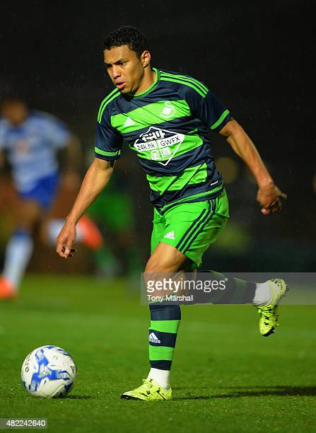 Jefferson Montero of Swansea City during the Pre Season Friendly match between Reading and Swansea City at Adams Park on July 24 2015 in High Wycombe...