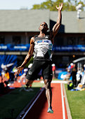 Jeffery Henderson jumps to victory in the Men's Long Jump Final during the 2016 US Olympic Track Field Team Trials at Hayward Field on July 3 2016 in...