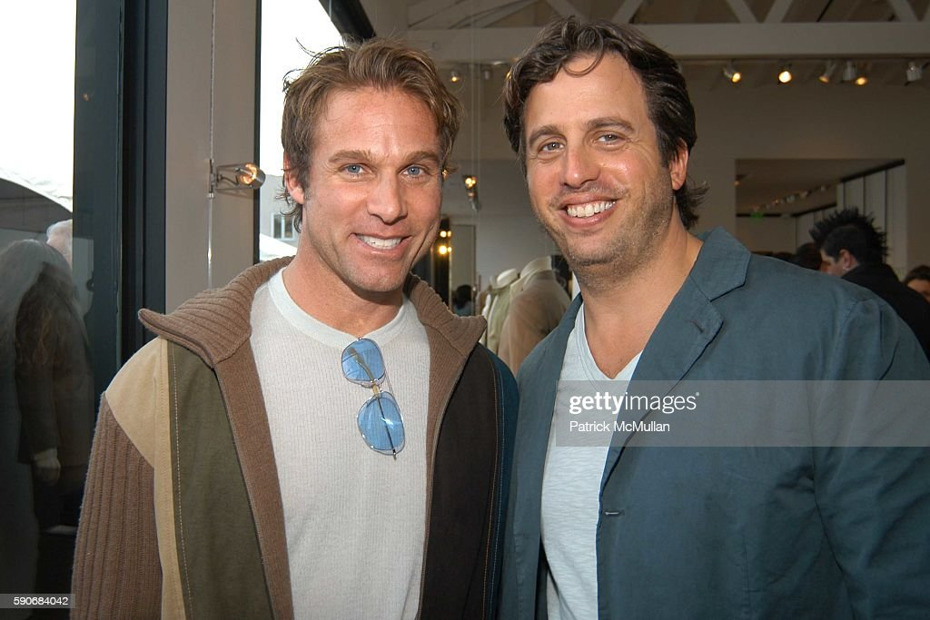 Jeffery Marks and Glen Henderstein attend John Varvatos' 3rd Annual Stuart House Charity Benefit at John Varvatos Boutique on March 5 2005 in West...