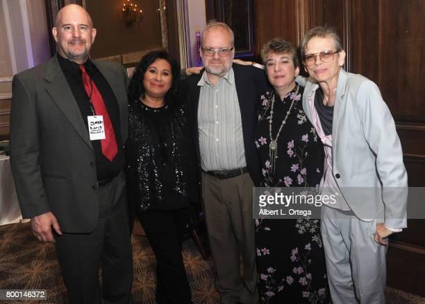 Jeffery Rykhus Silvia Leyva John Bailey Eileen Salmas and Heather Hinkel attend the Entertainment AIDS Alliance's Annual EAA Wine Wisdom Vision Event...