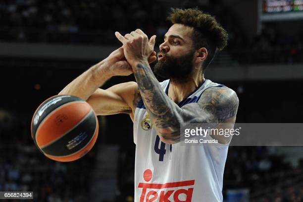 Jeffery Taylor #44 forward of Real Madrid during the 2016/2017 Turkish Airlines Euroleague Regular Season Round 27 game between Real Madrid v FC...