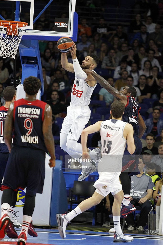 Jeffery Taylor #44 of Real Madrid in action during the Turkish Airlines Euroleague Basketball Regular Season date 4 game between Real Madrid v FC...