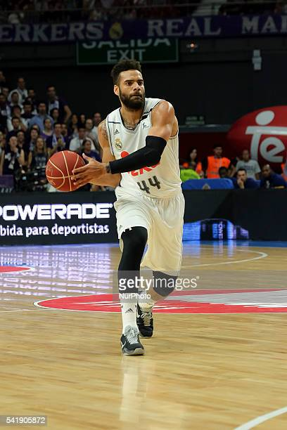 jeffery taylor of Real Madrid in action during the play off round 3 match between FC Barcelona Lassa and Real Madrid at Barclaycard Center in Madrid...
