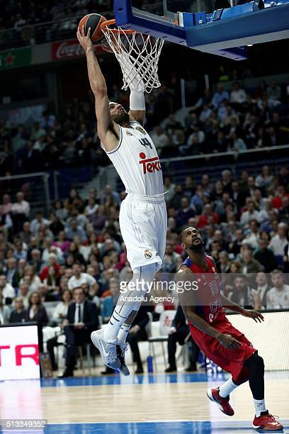 Jeffery Taylor of Real Madrid in action during the Turkish Airlines Euroleague Basketball match between Real Madrid and CSKA Moscow at Barclaycard...