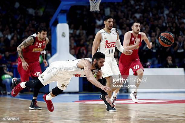 Jeffery Taylor of Real Madrid is in action during the Turkish Airlines Euroleague Top 16 group F match between Real Madrid and Olympiakos Barclaycard...