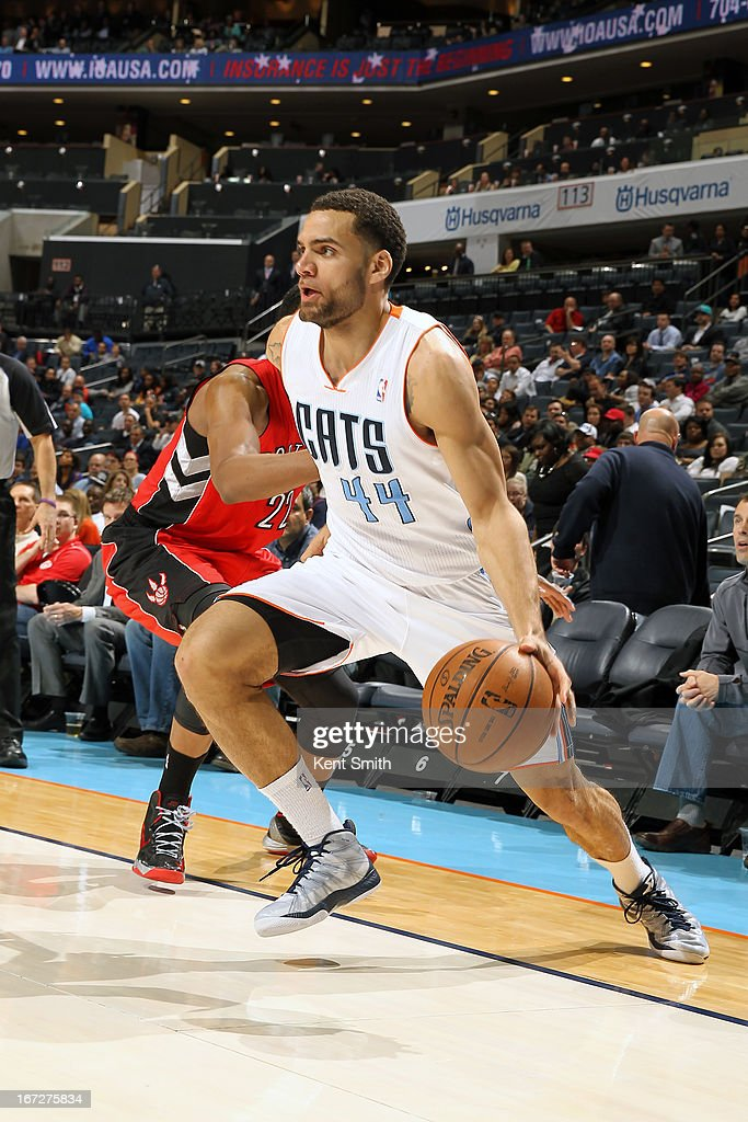 Jeffery Taylor #44 of the Charlotte Bobcats drives to the basket against the Toronto Raptors at the Time Warner Cable Arena on March 20, 2013 in Charlotte, North Carolina.