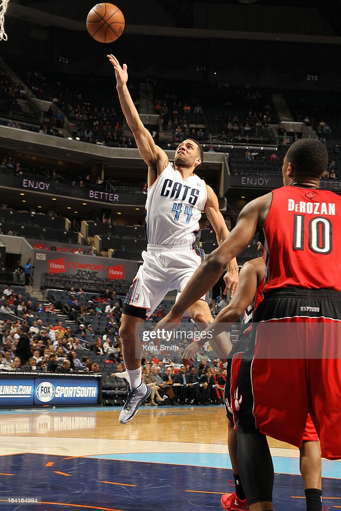 Jeffery Taylor #44 of the Charlotte Bobcats shoots against the Toronto Raptors at the Time Warner Cable Arena on March 20, 2013 in Charlotte, North Carolina.
