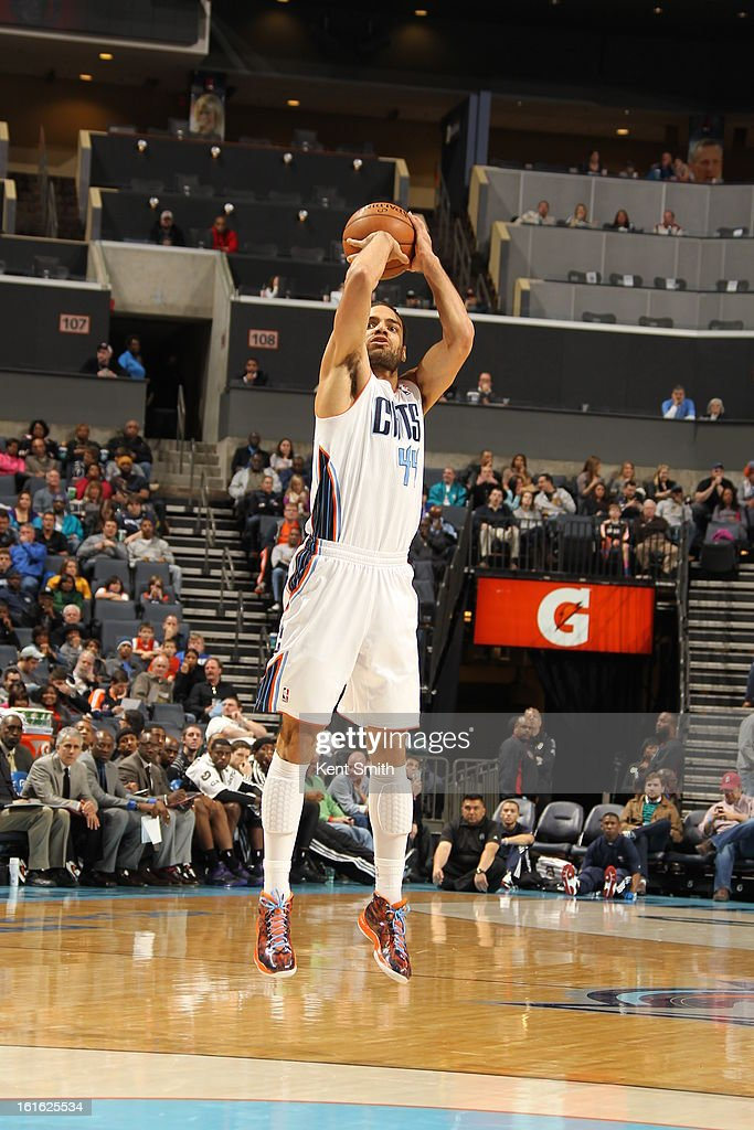 Jeffery Taylor #44 of the Charlotte Bobcats takes a shot against the Sacramento Kings at the Time Warner Cable Arena on January 19, 2013 in Charlotte, North Carolina.