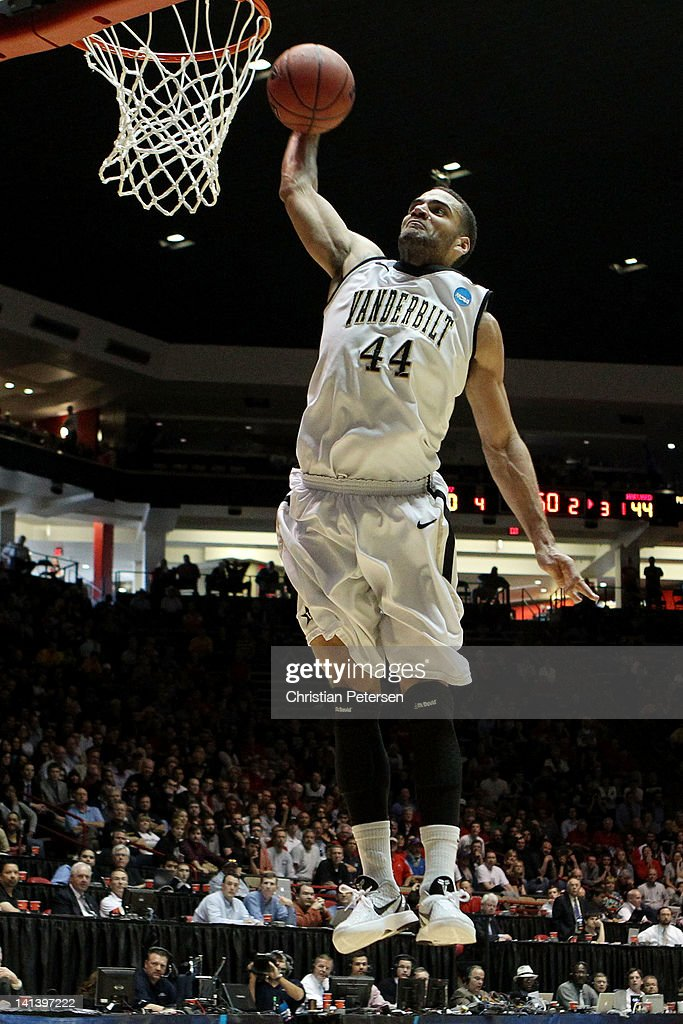 Jeffery Taylor of the Vanderbilt Commodores shoots against the Harvard Crimson in the second half of the game during the second round of the 2012...