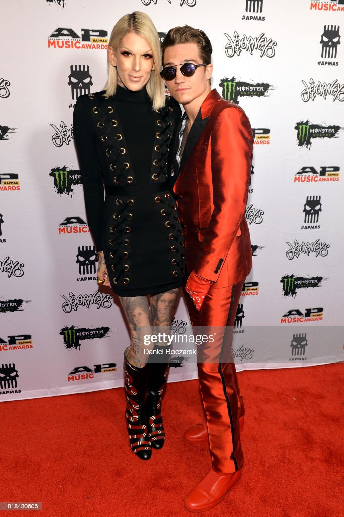 Jeffree Star and Nathan Schwandt attend the 2017 Alternative Press Music Awards at KeyBank State Theatre on July 17, 2017 in Cleveland, Ohio.