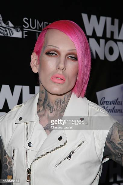 Jeffree Star arrives at the 'What Now' premiere at Laemmle Music Hall on March 10 2015 in Beverly Hills California