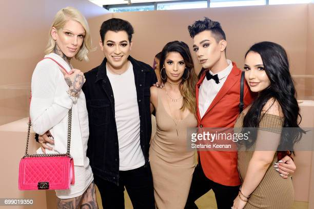 Jeffree Star Manny Gutierrez Laura Lee James Charles and Amanda Ensing celebrate The Launch Of KKW Beauty on June 20 2017 in Los Angeles California