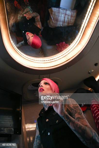 Jeffree Star poses backstage during the Vans Warped Tour on June 22 2014 in Ventura California