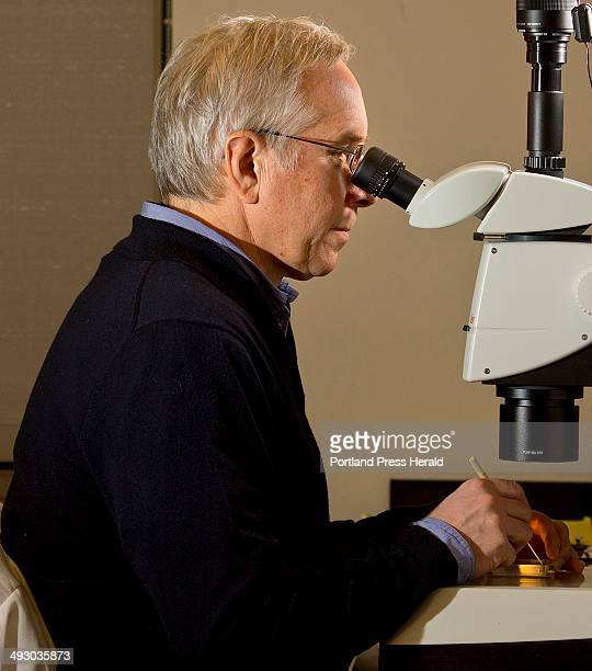 Jeffrey A Runge a professor of oceanography at The University of Maine and research scientist based at the Gulf of Maine Research Institute is seen...