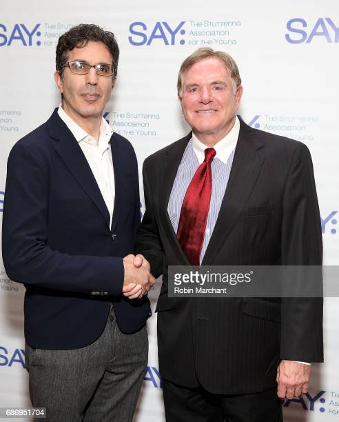 Jeffrey Blitz and Joe Moglia attend The Stuttering Association For The Young 15th Anniversary Gala at NYU Skirball Center on May 22 2017 in New York...