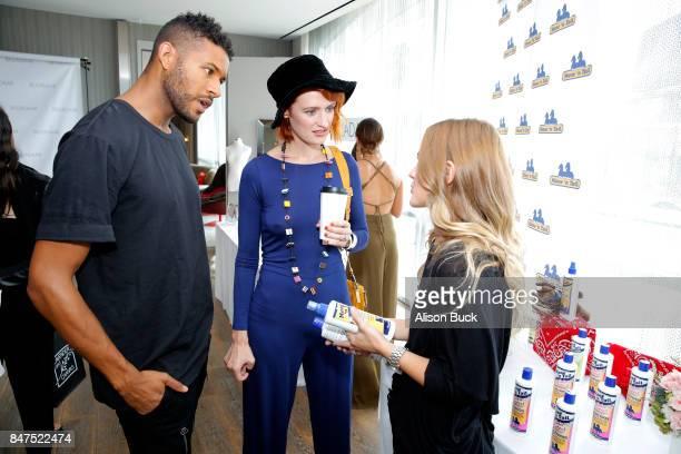 Jeffrey BowyerChapman and Breeda Wool attend Kari Feinstein's Style Lounge presented by Ocean Spray on September 15 2017 in Los Angeles California