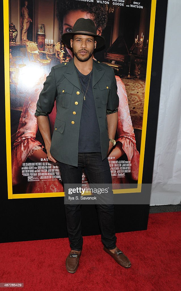 Jeffrey Bowyer-Chapman attends the 'Belle' premiere at The Paris Theatre on April 28, 2014 in New York City.