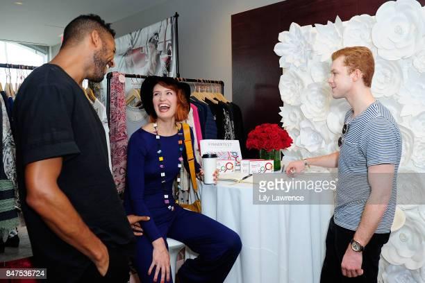 Jeffrey BowyerChapman Breeda Wool and Cameron Monaghan attend Kari Feinstein's Style Lounge presented by Ocean Spray on September 15 2017 in Los...