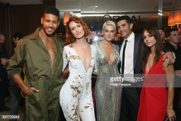 Jeffrey BowyerChapman Breeda Wool Serinda Swan and guests attend the 2017 Entertainment Weekly PreEmmy Party at Sunset Tower on September 15 2017 in...