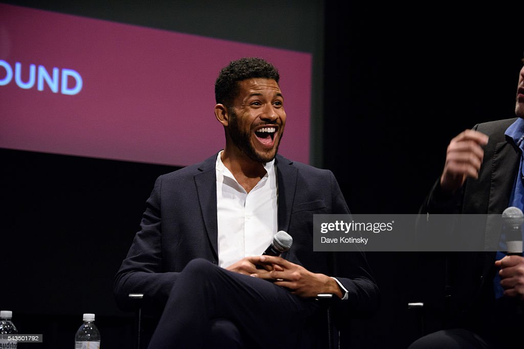 Jeffrey Bowyer-Chapman speaks SAG-AFTRA Foundation Conversations With The Cast Of 'UnREAL'at NYIT Auditorium on Broadway on June 28, 2016 in New York City.