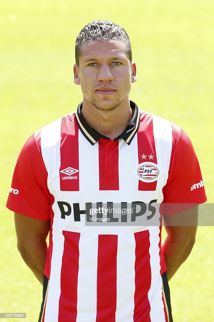 <a gi-track='captionPersonalityLinkClicked' href=/galleries/search?phrase=Jeffrey+Bruma&family=editorial&specificpeople=4508935 ng-click='$event.stopPropagation()'>Jeffrey Bruma</a> during the team presentation of PSV Eindhoven on July 6, 2015 at the Herdgang in Eindhoven, The Netherlands.