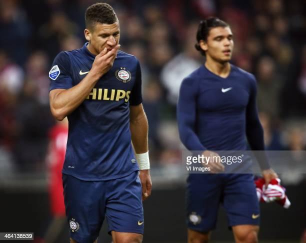 Jeffrey bruma Karim Rekik ¨ during the Dutch Eredivisie match between Ajax Amsterdam and PSV Eindhoven at Amsterdam Arena on January 19 2014 in...