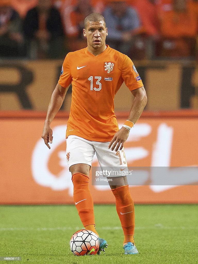 <a gi-track='captionPersonalityLinkClicked' href=/galleries/search?phrase=Jeffrey+Bruma&family=editorial&specificpeople=4508935 ng-click='$event.stopPropagation()'>Jeffrey Bruma</a> of Holland during the UEFA Euro 2016 qualifying match between Netherlands and Iceland on September 3, 2015 at the Amsterdam Arena in Amsterdam, The Netherlands.