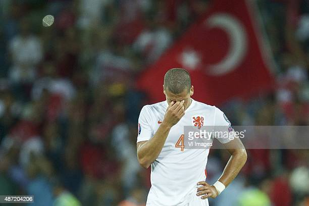 Jeffrey Bruma of Holland during the UEFA Euro 2016 qualifying match between Turkey and Netherlands on September 6 2015 at the Konya B#252y#252ksehir...