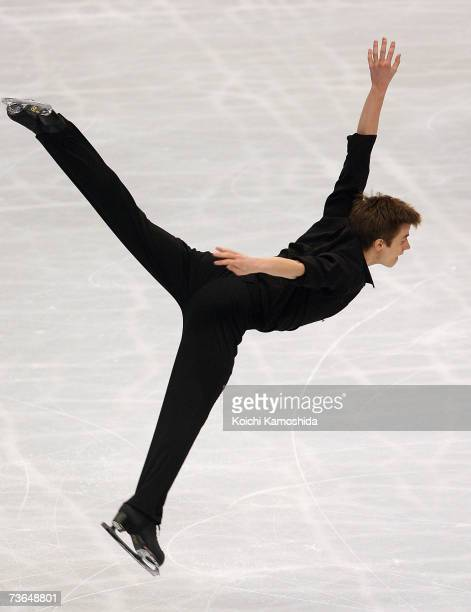 Jeffrey Buttle of Canada skates during the Men's Short Program during the World Figure Skating Championships at the Tokyo Gymnasium on March 21 2007...