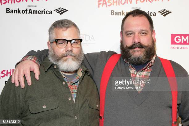 Jeffrey Costello and Robert Tagliapietra attend Bank of America Presents Fashion Forward Supporting GMHC in the Fight Against AIDS at Metropolitan...