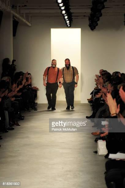 Jeffrey Costello and Robert Tagliapietra attend COSTELLO TAGLIAPIETRA Fall 2010 Collection at Milk Studios on February 12 2010 in New York City