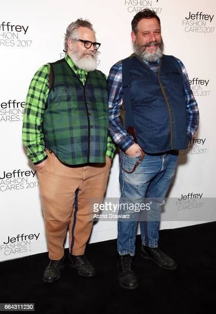 Jeffrey Costello and Robert Tagliapietra attend Jeffrey Fashion Cares 2017 at Intrepid SeaAirSpace Museum on April 3 2017 in New York City