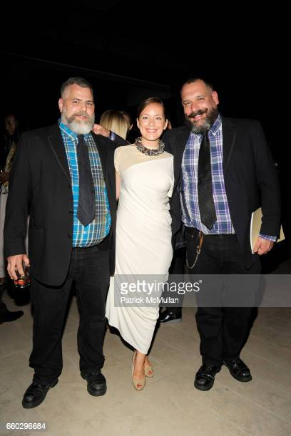 Jeffrey Costello Sarah Cristobal and Robert Tagliapietra attend CFDA AWARDS 2009 INSIDE at Alice Tully Hall on June 15 2009 in New York