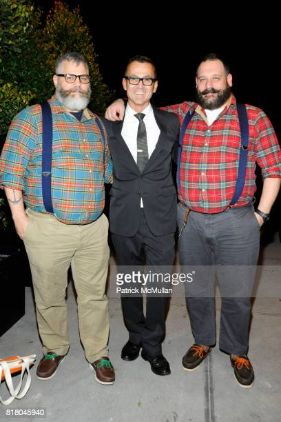 Jeffrey Costello Steve Kolb and Robert Tagliapietra attend Gala Opening of the American Fashion Designers Show House to Benefit CFDA at The Aldyn on...