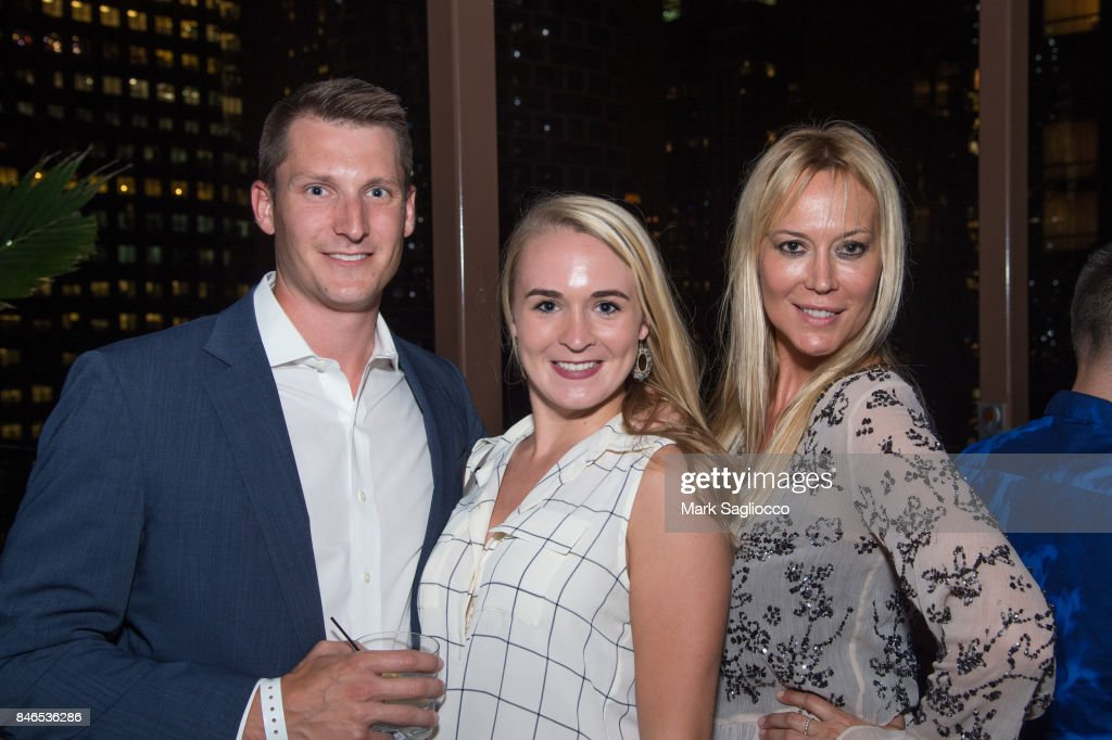Jeffrey Costikyan, Laura Newell and Griselda Lechini attend Hamptons Magazine's Celebration with Cover Star Maria Sharapova at PHD Terrace at Dream Midtown on September 12, 2017 in New York City.