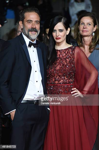 Jeffrey Dean Morgan and actress Eva Green attend the 'The Salvation' Premiere at the 67th Annual Cannes Film Festival on May 17 2014 in Cannes France