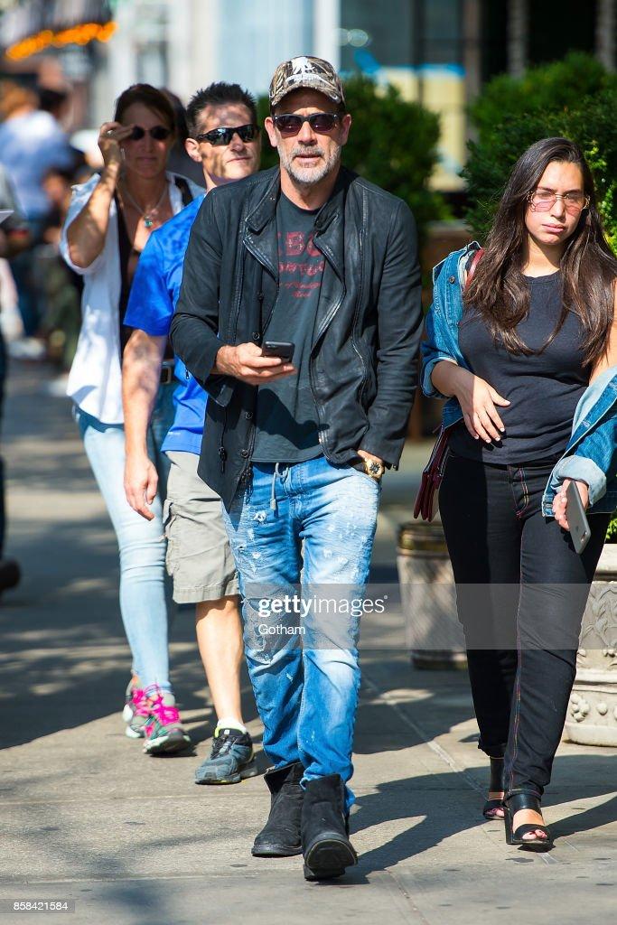 Jeffrey Dean Morgan is seen in the East Village on October 6, 2017 in New York City.