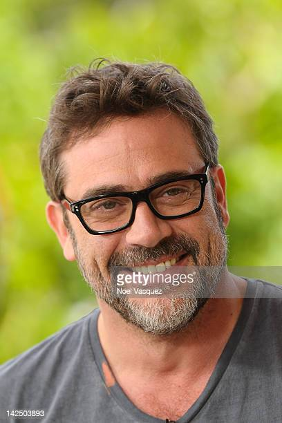 Jeffrey Dean Morgan visits 'Extra' at The Grove on April 5 2012 in Los Angeles California