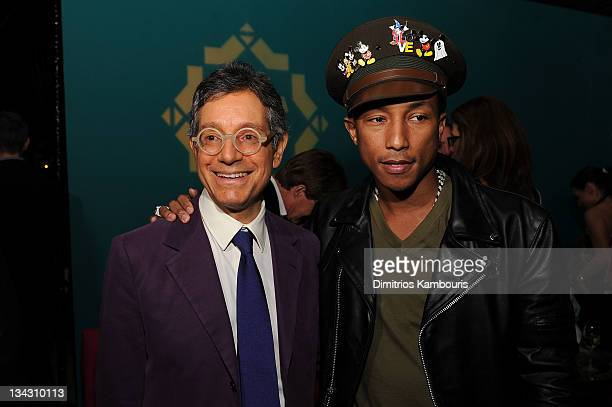 Jeffrey Deitch and Pharrell Williams attend The Kingdom of Morocco and Maybach dinner in celebration of Art Basel with Maria and Bill Bell Jeffrey...