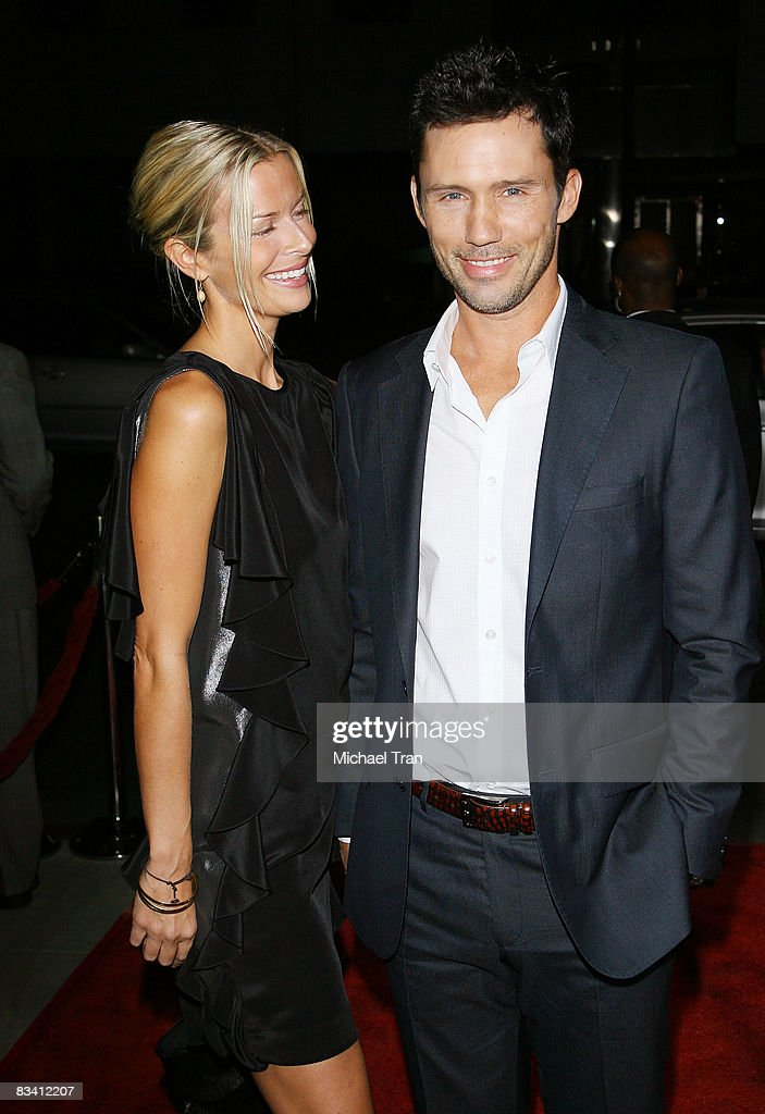 Jeffrey Donovan and his girlfriend Katherine Kovarik arrive at the Los Angeles premiere of 'Changeling' held at The Academy of Motion Picture Arts and Sciences on October 23, 2008 in Beverly Hills, California.
