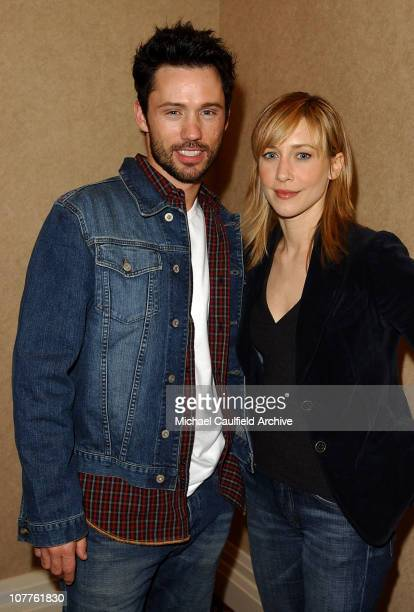 Jeffrey Donovan and Vera Farmiga during USA SCI FI Presentation of 'Touching Evil' at the Television Critics Association Meeting at The Renaissance...
