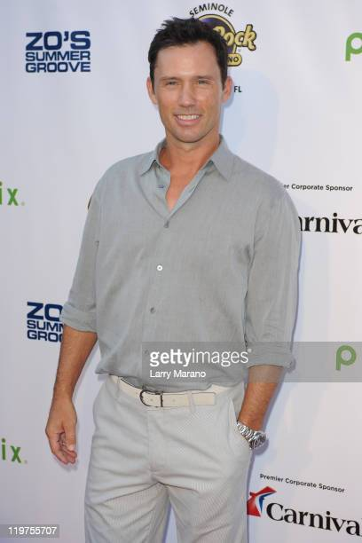 Jeffrey Donovan arrives at Zo Summer Groove Benefit Dinner and Gala at Seminole Hard Rock Hotel on July 23 2011 in Hollywood Florida